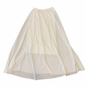 Imanimo crochet  Lined A-Line Maxi Skirt  Sz S
